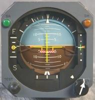 horizonte artificial indicador de actitud del avión