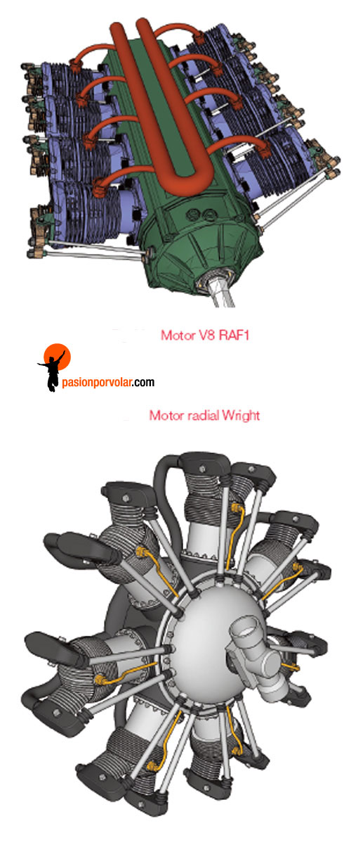 motorv8-motor radial