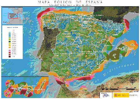 vientos peninsula iberica
