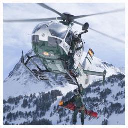 vuelo en montaña