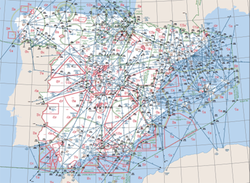 mapas de aerovias